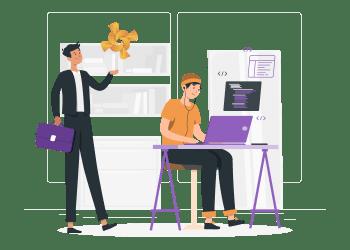 İş analistleri ve yazılım geliştiriciler Rindap sayesinde iş birliği içinde süreçleri otomatikleştirebilir