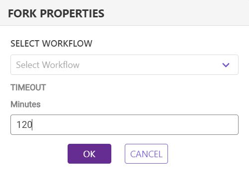 workflow fork settings